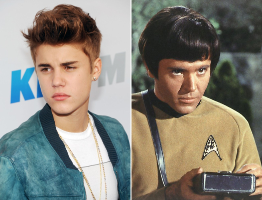 8 Justin Bieber as Chekov