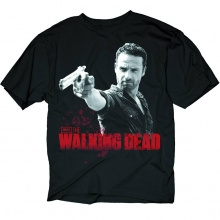 The Walking Dead  - Rick and Pistol Black PX T-Shirt XL