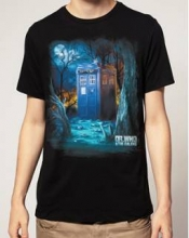 Doctor Who  - Who Forest T-Shirt LRG