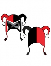 Harley Quinn  - Masked Peruvian Hat Accessory