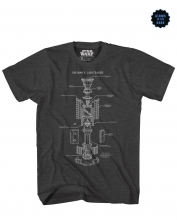 Star Wars  - Saber Cut Away T-Shirt MED