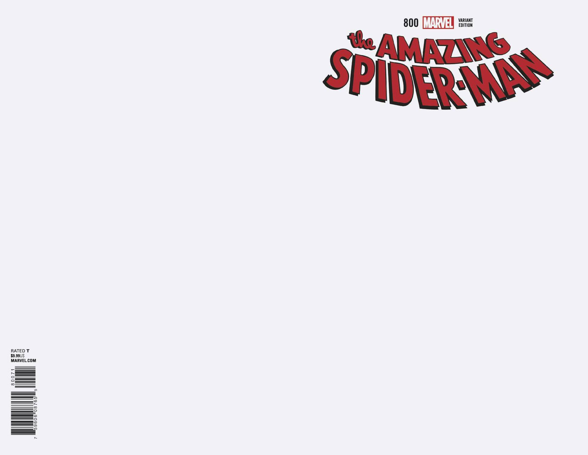 Amazing Spider-Man (Vol. 5)  #800 Blank RI Variant