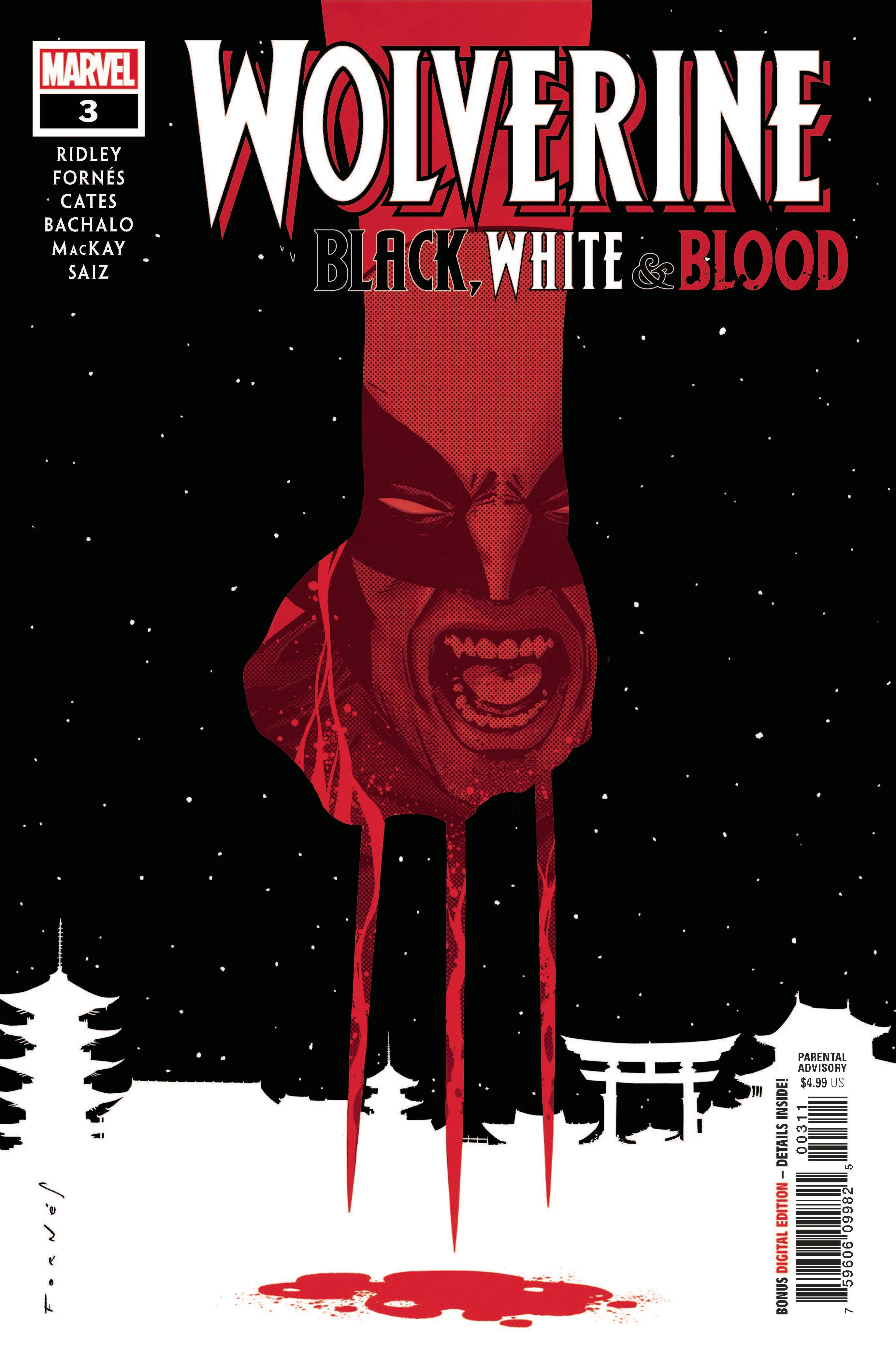 Wolverine: Black White Blood (4P Ms)  #3
