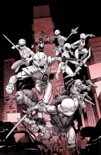 Power Rangers - TMNT (5P Ms)  #1 Unlock B&W Variant