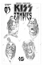Kiss: Zombies  #3 1:11 Variant