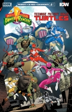 Power Rangers - TMNT (5P Ms)  #5 Cover A