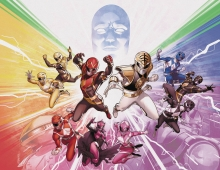Mighty Morphin Power Rangers  #50 Foil Wraparound Cover