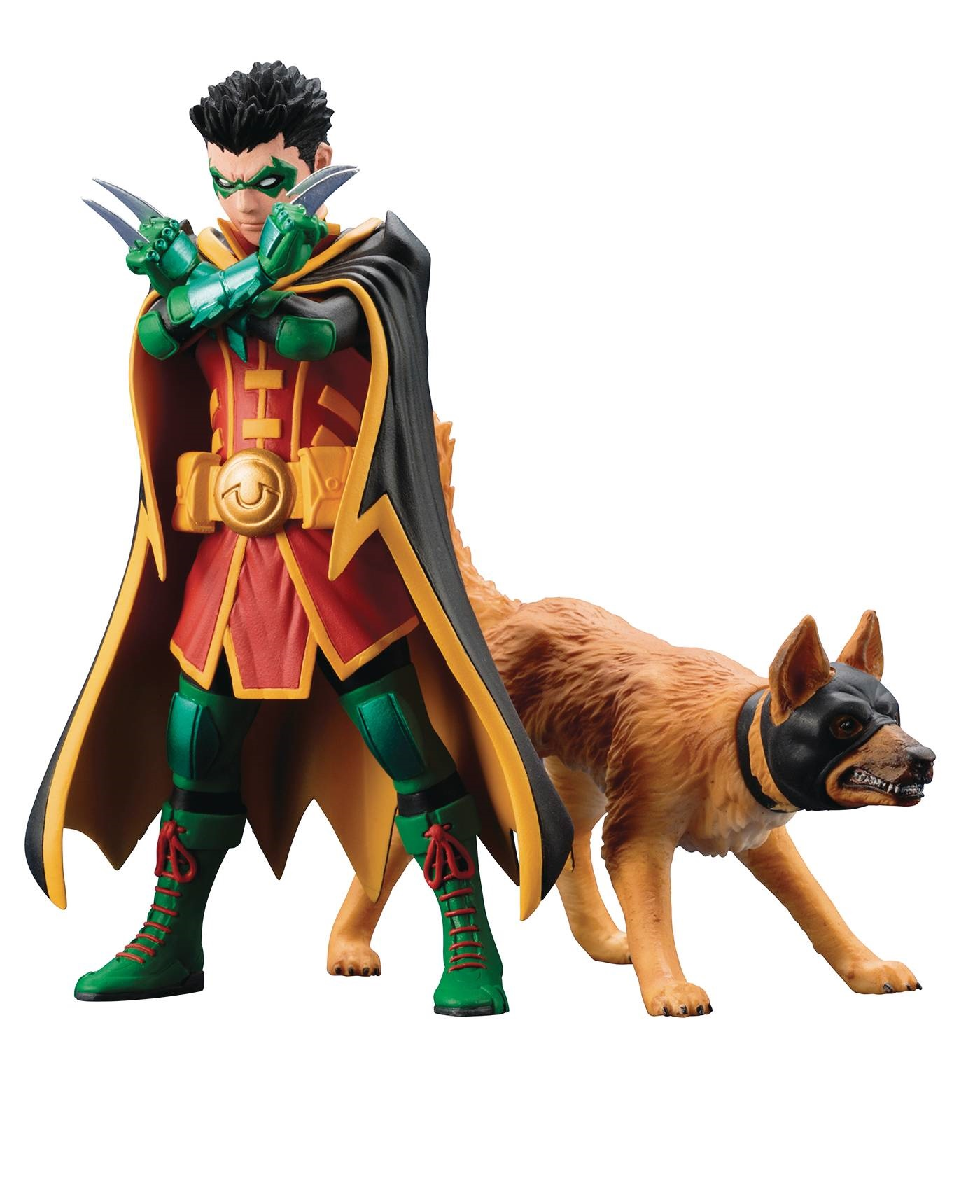DC Universe  Series Robin and Bat-Hound Statue