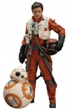 Star Wars  Series E7 - Poe Dameron and BB-8 Statue