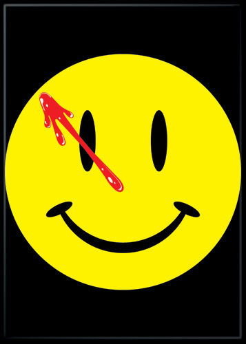 Watchmen  Series Bloody Smiley Magnet