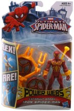 Ultimate Spider-Man: Power Webs  Series 1 - Catapult Smash Iron Spider-Man Action Figure