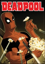 Deadpool  Series Smelling the Flowers Magnet