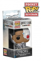 Pocket POP Keychain - DC Comics  Series Justice League Movie - Cyborg Key Ring